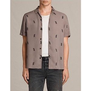 ALLSAINTS Pineapple Short Sleeve Button Down Shirt